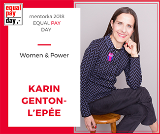 Karin speaking at the Equal Pay Day Conference